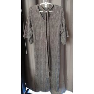 Zara Checked Dress With Knotted Back size S